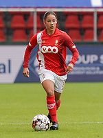 Standard's Lola Wajnblum (11) with the ball during a female soccer game between Standard Femina de Liege and KRC Genk Ladies  on the third matchday of the 2020 - 2021 season of Belgian Womens Super League , Saturday 3 rd of October 2020  in Liege , Belgium . PHOTO SPORTPIX.BE   SPP   SEVIL OKTEM