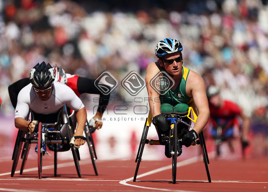 Ricard Colman (AUS), Men's 800m - T53.<br /> Athletics, Olympic Stadium (Tuesday 4th Sept)<br /> Paralympics - Summer / London 2012<br /> London England 29 Aug - 9 Sept <br /> © Sport the library/Joseph Johnson
