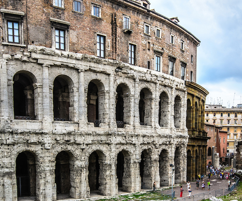 Fine Art Landscape Print Photograph. The Colosseum is probably the most impressive building of the Roman empire. It was originally known as the Flavian Amphitheater and was completed in AD 80. This photograph of a section of the Colosseum captures the drama and character of the time.