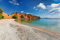 The beach Kokkinokastro of Alonissos island, Greece