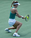 July 19,2016:   Eugenie Bouchard (CAN) loses to Camila Giorgi (ITA) 7-5, 6-4, at the Citi Open being played at Rock Creek Park Tennis Center in Washington, DC, .  ©Leslie Billman/Tennisclix