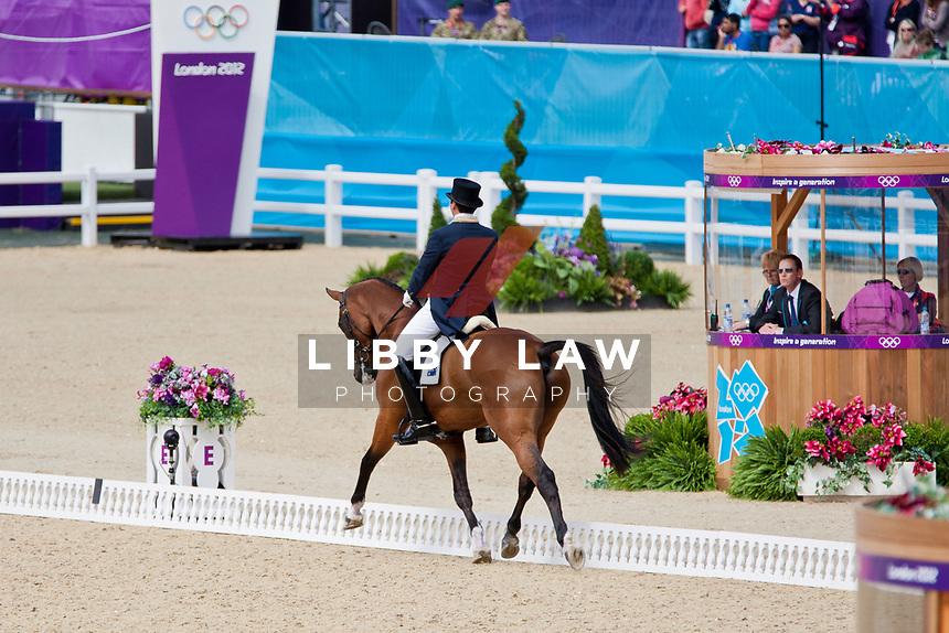 AUS-Clayton Fredericks (BENDIGO) 2012 LONDON OLYMPICS (Sunday 29 July 2012) EVENTING DRESSAGE: INTERIM-10TH (40.40)