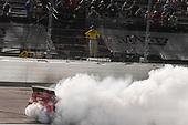 #20: Erik Jones, Joe Gibbs Racing, Toyota Camry Sport Clips Throwback, celebrates after winning