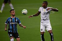 14th November 2020; Arena de Gremio, Porto Alegre, Brazil; Brazilian Serie A, Gremio versus Ceara; Matheus Henrique of Gremio beaten to the high ball by Cléber of Ceara