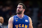 UCAM Murcia's Carlos Cabezas during the first match of the playoff at Barclaycard Center in Madrid. May 27, 2016. (ALTERPHOTOS/BorjaB.Hojas)
