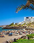 Spanien, Kanarische Inseln, Teneriffa, Playa de las Americas: Strand | Spain, Canary Islands, Tenerife, Playa de las Americas: beach