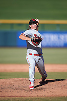 Scottsdale Scorpions Jeff Singer (11), of the Philadelphia Phillies organization, during a game against the Mesa Solar Sox on October 21, 2016 at Sloan Park in Mesa, Arizona.  Mesa defeated Scottsdale 4-3.  (Mike Janes/Four Seam Images)