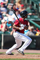 Rochester Red Wings Jacque Jones during a game vs. the Pawtucket Red Sox at Frontier Field in Rochester, New York;  August 29, 2010.   Rochester defeated Pawtucket 6-3.  Photo By Mike Janes/Four Seam Images