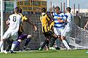 Morton's Mark McLaughlan (6) scores their first goal.