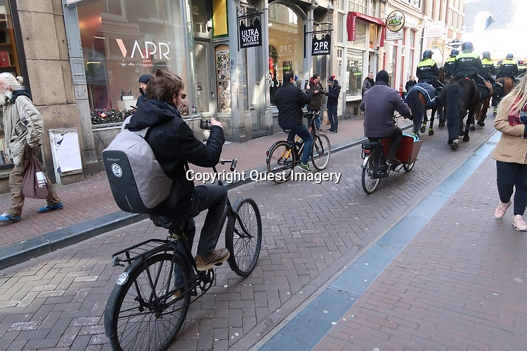 Various scenes with bicycles in Amsterdam, Holland. Taken in 2018.<br /> Photo by Deirdre Hamill
