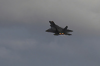 FORT LAUDERDALE FL - NOVEMBER 19: The Lockheed Martin F-22 Raptor is seen in flight during press day for the Fort Lauderdale Air Show at the Fort Lauderdale-Hollywood International Airport on November 19, 2020 in Fort Lauderdale, Florida. Credit: mpi04/MediaPunch