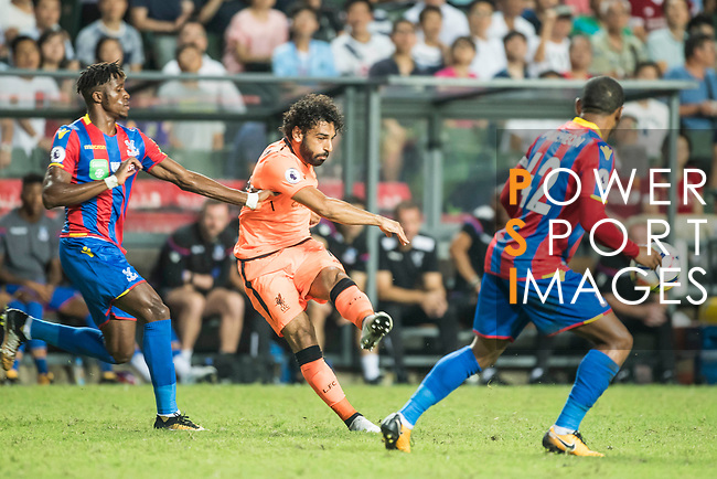 Liverpool FC forward Mohamed Salah (C) fights for the ball with Crystal Palace players during the Premier League Asia Trophy match between Liverpool FC and Crystal Palace FC at Hong Kong Stadium on 19 July 2017, in Hong Kong, China. Photo by Weixiang Lim / Power Sport Images
