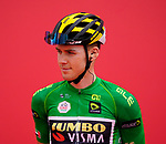 Green Jersey David Dekker (NED) Jumbo-Visma at sign on before the start of Stage 5 of the 2021 UAE Tour running 170km from Fujairah to Jebel Jais, Fujairah, UAE. 25th February 2021.  <br /> Picture: Eoin Clarke   Cyclefile<br /> <br /> All photos usage must carry mandatory copyright credit (© Cyclefile   Eoin Clarke)