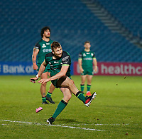 2nd January 2021; RDS Arena, Dublin, Leinster, Ireland; Guinness Pro 14 Rugby, Leinster versus Connacht; Jack Carty of Connacht adds three points to to score with this kick for 12 - 28