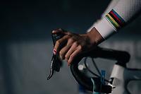 'lovely' band aid for Wout van Aert (BEL/Crelan-Charles) warming up <br /> <br /> Elite Men's Race<br /> Belgian National CX Championships / Koksijde 2018
