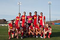 Western New York Flash starting XI. Sky Blue FC defeated the Western New York Flash 1-0 during a National Women's Soccer League (NWSL) match at Yurcak Field in Piscataway, NJ, on April 14, 2013.