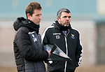 St Johnstone Training... 05.03.21<br />Manager Callum Davidson pictured with coach Steven MacLean during training at McDiarmid Park this morning...<br />Picture by Graeme Hart.<br />Copyright Perthshire Picture Agency<br />Tel: 01738 623350  Mobile: 07990 594431