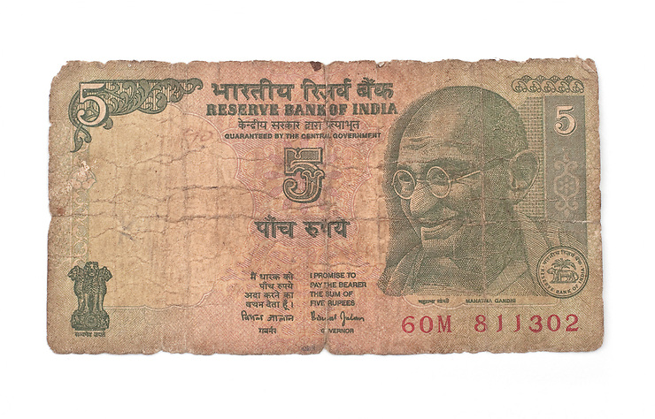 Better get used to seeing Ghandi G as he's on every denomination of bank note from the lowly grubby five rupee right up to the crisp selective one thousand.<br /> Keep the small notes on the outside of your bankroll to avoid rickshaw drivers getting pushy for a tip when they spot your big number bills