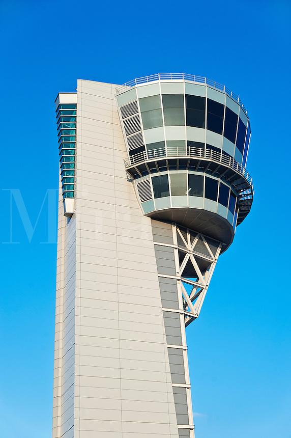 Air traffic control tower, Philadelphia International Airport.