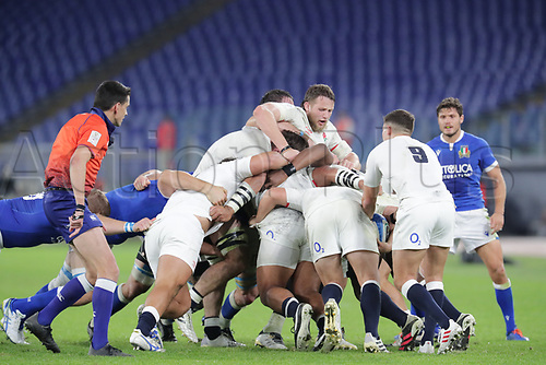 31st October 2020, Olimpico Stadium, Rome, Italy; Six Nations International Rugby Union, Italy versus England;  The Maul is controlled by England