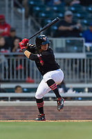 El Paso Chihuahuas shortstop Luis Urias (3) during a Pacific Coast League game against the Albuquerque Isotopes at Southwest University Park on May 10, 2019 in El Paso, Texas. Albuquerque defeated El Paso 2-1. (Zachary Lucy/Four Seam Images)