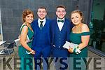 Laura Fitzgerald (Kilcummin), Dean Cronin (Kilcummin), Aaron Healy (Kilcummin) and Rachel Kelly (Glenflesk) at the Killarney Community College, St. Brendan's and St. Bridget's School debs in the Ballyroe Heights Hotel on Monday night.