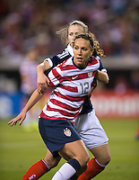Lauren Cheney, Eilish McSorley.  The USWNT defeated Scotland, 4-1, during a friendly at EverBank Field in Jacksonville, Florida.