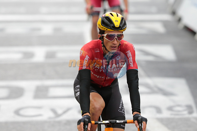 Pello Bilbao (ESP) Bahrain Victorious crosses the finish line at the end of Stage 16 of the 2021 Tour de France, running 169km from Pas de la Case to Saint-Gaudens, Andorra. 13th July 2021.  <br /> Picture: Colin Flockton | Cyclefile<br /> <br /> All photos usage must carry mandatory copyright credit (© Cyclefile | Colin Flockton)