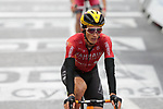 Pello Bilbao (ESP) Bahrain Victorious crosses the finish line at the end of Stage 16 of the 2021 Tour de France, running 169km from Pas de la Case to Saint-Gaudens, Andorra. 13th July 2021.  <br /> Picture: Colin Flockton   Cyclefile<br /> <br /> All photos usage must carry mandatory copyright credit (© Cyclefile   Colin Flockton)