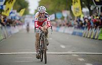 Koppenbergcross 2013<br /> <br /> Kevin Pauwels (BEL) crossing the finishline