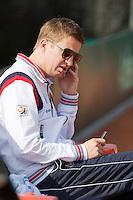 10-09-12, Netherlands, Amsterdam, Tennis, Daviscup Netherlands-Swiss, training, Team Manager Marc Wolferts