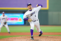 Starting pitcher Hector Santiago #6 of the Winston-Salem Dash in action against the Lynchburg Hillcats at BB&T Ballpark on May 7, 2011 in Winston-Salem, North Carolina.   Photo by Brian Westerholt / Four Seam Images