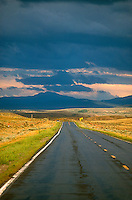 Stormy sky over roadway<br />