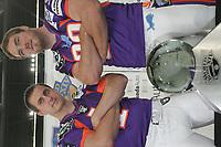 Kicker Dave Kimball und Tight End Sean McHugh (beide Frankfurt Galaxy)