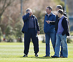 Ally McCoist at training with guests Andy Millen, Kevin McGowne and Mark Reilly