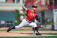 Erie Seawolves relief pitcher Paul Voelker (3) delivers a pitch during a game against the Altoona Curve on July 10, 2016 at Jerry Uht Park in Erie, Pennsylvania.  Altoona defeated Erie 7-3.  (Mike Janes/Four Seam Images)
