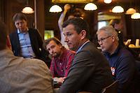 Rotterdam, Netherlands, Januari 06, 2016,  Press conference ABNAMROWTT,   Tournament Director Richard Krajickek (M)<br /> Photo: Tennisimages/Henk Koster