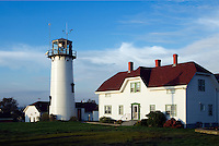 Chatham Light and Coast Guard station, Chatham, Cape Cod, Massachusetts, USA.