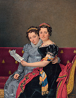 The Sisters Zénaïde and Charlotte Bonaparte; Jacques-Louis David (French, 1748 - 1825); 1821; Oil on canvas; 129.5 × 100.6 cm (51 × 39 5/8 in.); 86.PA.740