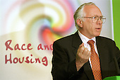 Lord Rooker, Minister of Housing, speaks at a Race and Housing Conference, Westminster, London.