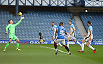 04.10.2020 Rangers v Ross County: Alfredo Morelos shoots high and wide