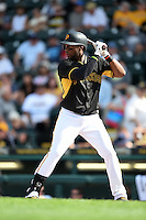 Pittsburgh Pirates outfielder Mel Rojas Jr. (81) during a Spring Training game against the New York Yankees on March 5, 2015 at McKechnie Field in Bradenton, Florida.  New York defeated Pittsburgh 2-1.  (Mike Janes/Four Seam Images)