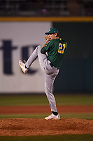 Beloit Snappers relief pitcher Michael Danielak (27) during a Midwest League game against the Lansing Lugnuts at Cooley Law School Stadium on May 4, 2019 in Lansing, Michigan. Beloit defeated Lansing 2-1. (Zachary Lucy/Four Seam Images)