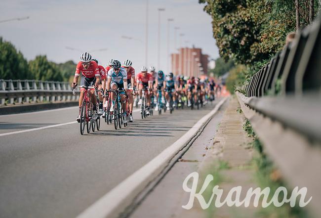 Eugenio Alafaci (ITA/Trek-Segafredo) leading the way<br /> <br /> 52nd GP Jef Scherens - Rondom Leuven 2018 (1.HC)<br /> 1 Day Race: Leuven to Leuven (186km/BEL)