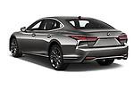 Car pictures of rear three quarter view of a 2018 Lexus LS President 4wd 4 Door Sedan angular rear