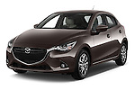 2015 Mazda Mazda2 Pulse Edition 5 Door Hatchback 2WD Angular Front stock photos of front three quarter view
