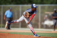 Kelvin Bender during the WWBA World Championship at the Roger Dean Complex on October 19, 2018 in Jupiter, Florida.  Kelvin Bender is a left handed pitcher from Gardena, California who attends Junipero Serra High School and is committed to UC Santa Barbara.  (Mike Janes/Four Seam Images)