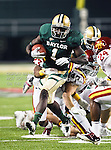 Baylor Bears wide receiver Kendall Wright (1) in action during the game between the Iowa State Cyclones and the Baylor Bears at the Floyd Casey Stadium in Waco, Texas. Baylor defeats Iowa State 49 to 26.