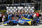 Alexander Rossi, Andretti Autosport Honda celebrates 200 wins in Victory Lane