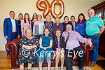 Mary Moriarty from Fenit celebrating her 90th birthday on Saturday and Riona McMorrow-Moriarty celebrating her Confirmation on Saturday at home in Fenit on Saturday. Seated l to r: Mary McMorrow, Riona McMorrow-Moriarty, Mary Moriarty and Edward McMorrow. Back l to r: Kevin and Billy Moriarty,  Emer and Cara McMorrow-Moriarty, June McDunphy, Nora Sweeney,  Marie Halstead, Monica Murphy, John Moriarty, Marie McMorrow and Mikey Moriarty.
